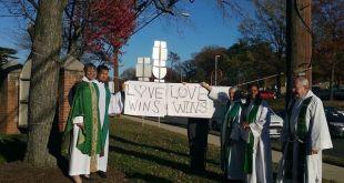 Iglesia episcopal hispana víctima de vandalismo racista pro Trump