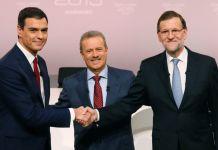 Imagen previa al cara a cara de Mariano Rajoy y Pedro Sánchez para debatir sobre las opciones de España ante el 20D