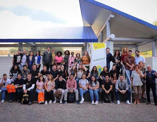 Estudiantes europeos de comunicación en Salerno