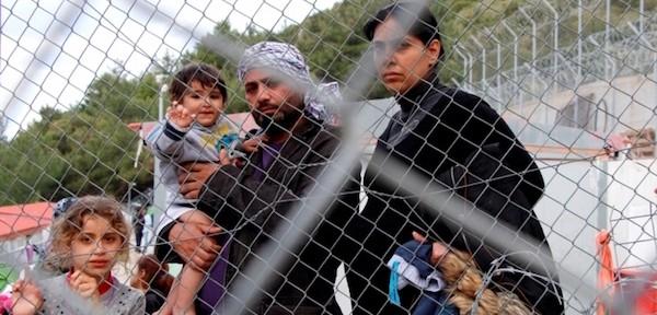 Familia iraquí en el centro de detención de la isla de Samos, GreciaMohammad Ghannam/MSF