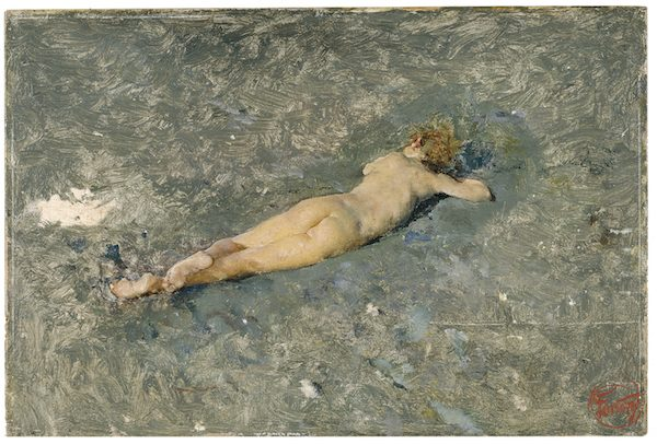 Fortuny: Desnudo en la playa de Portici