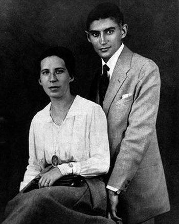 Franz Kafka con Felice Bauer