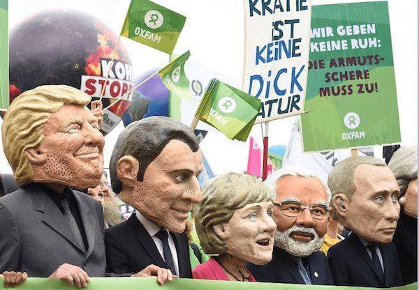 Protestas sociales en Hamburgo contra la cumbre del G20