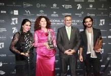 Festival Internacional Cante de las Minas de La Unión. Ganadores 2016 con alcalde Pedro López Milán