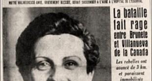 Gerda Taro: homenaje de Amigos de las Brigadas Internacionales