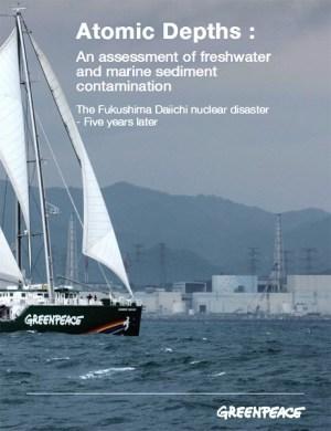 Portada del informe de Greenpeace sobre la contaminación que sigue produciendo Fukushima en febrero de 2016