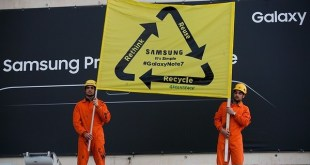 Greenpeace: Samsung debe reciclar los Galaxy Note defectuosos