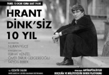 Cartel del acto conmemorativo en la Universidad de Estambul en recuerdo de Hrant Dink.