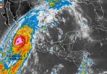 Imagen de satélite del huracán Patricia