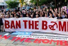 Activistas antinucleares de INCA en Suecia