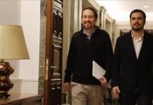 Iglesias y Garzón en el Congreso de los Diputados