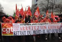 Paris, protesta sindical contra la reforma laboral el 31 de marzo de 2016