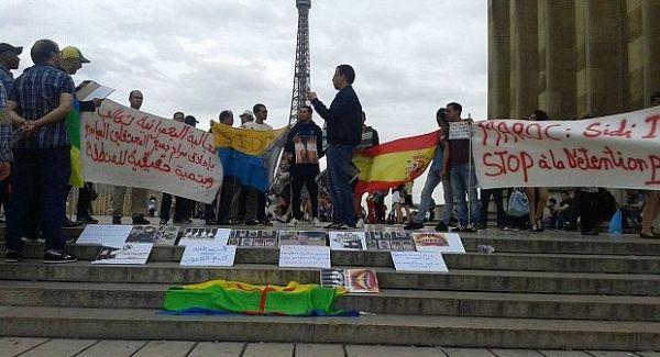 Manifestación en París el 9 de agosto de 2016 en favor de los jóvenes procesados en Sidi Ifni