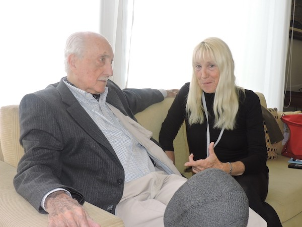 Martínez Suárez con Adriana Bianco