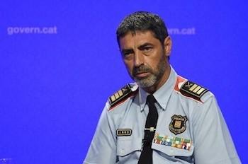 Josep Lluis Trapero, jefe de loa Mossos d'Esquadra de Cataluña