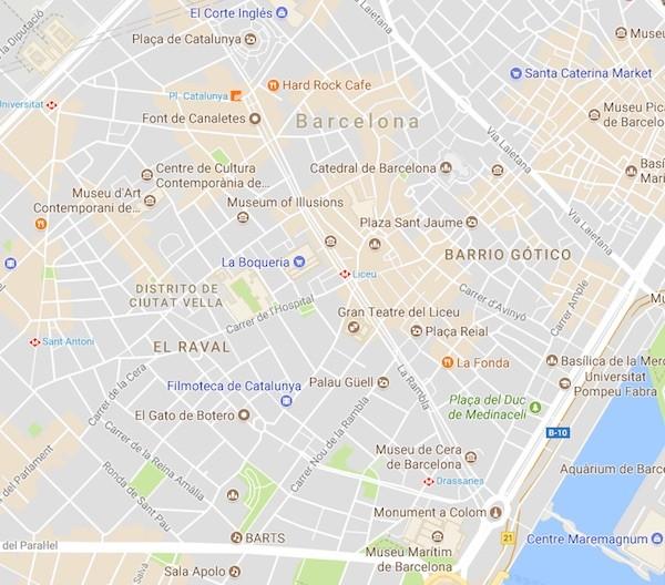 La Rambla de Barcelona