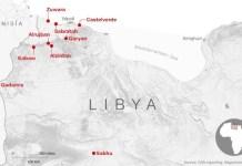 Localizaciones de mercados de esclavos en Libia. @CNN
