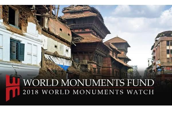 Logo del programa '2018 World Monuments Watch'