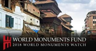 Logo del programa '2018 World Monuments Watch'