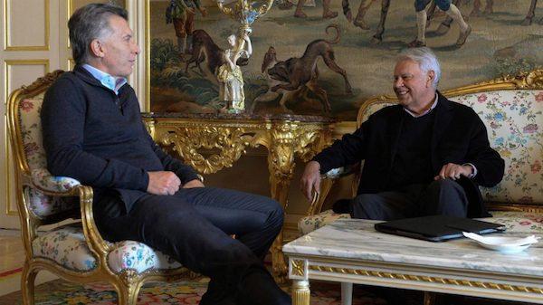 Mauricio Macri con Felipe González en la visita del presidente argentino a Madrid en febrero de 2017