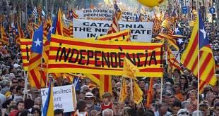 Manifestación por la independencia de Cataluña