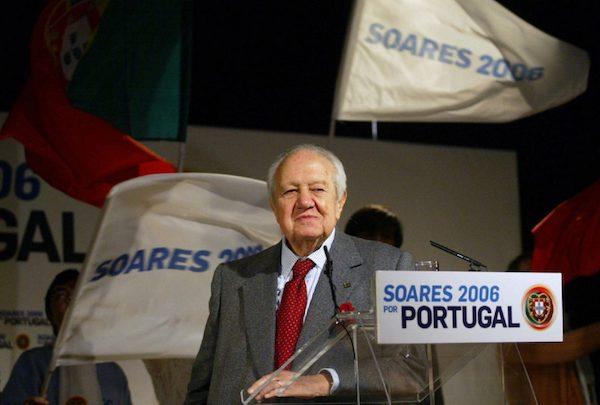 Mario Soares en la campaña electoral de 2006