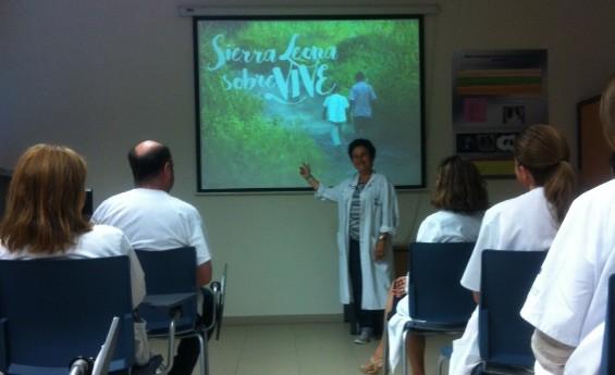 """Presentación de la campaña """"Sierra Leona sobreVIVE"""" de Médicos del Mundo sobre las experiencias de la epidemia del ébola."""