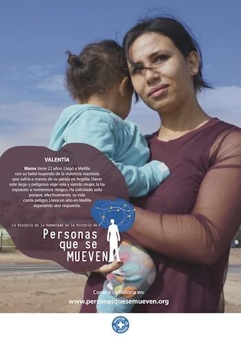 """Cartel de la campaña """"Personas que se mueven"""" de Médicos del Mundo"""