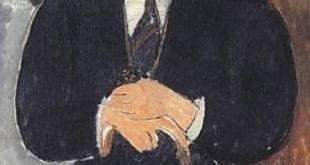 Modigliani: Hombre sentado (apoyado en un bastón)