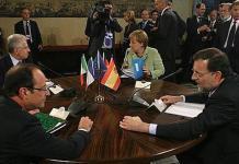 Angela Merkel, Mario Monti, Francois Hollande y Mariano Rajoy,