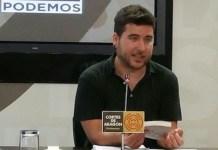 Nacho Escartín, diputado de Podemos en las Cortes de Aragón