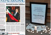Cierra en Hungría el periódico Nepszabadság