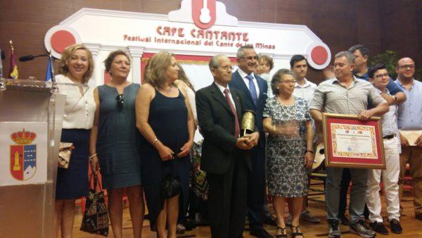 56 Festival del Cante de las Minas de La Unión. Lámpara Minaera honorífica al Niño Alfonso. 6 de agosto 2016.