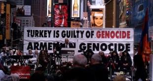 Acto en Times Square, en Nueva York, solidario con Armenia