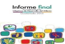 Portada del informe final sobre lo conseguido en los Objetivos del Milenio para Guatemala