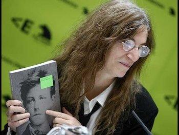Patti Smith, durante la presentación en Madrid de la exposición sobre Rimbaud.