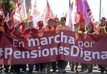 Protestas de pensionistas en España, febrero de 2018