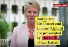 Campaña en favor de los periodistas franceses acusados por Azerbaiyán.