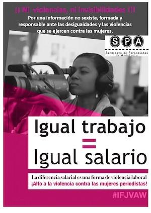 periodistas trabajo salario cartel spa Las periodistas sufren en España violencia laboral y profesional