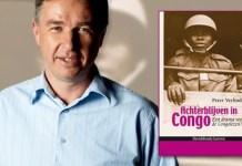 Peter Verlinden con uno de sus libros sobre el Congo