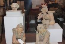 Imagen de algunas de las piezas arqueológicas ecuatorianas que fueron recuperadas por el Gobierno Español. Foto: Embajada de Ecuador en España