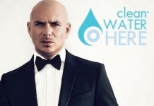 Pitbull en el cartel promocional de Clean Water Here
