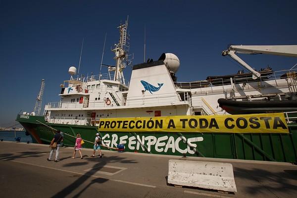 10/07/2017. Barco Esperanza, Puerto de Malaga, España. ©Greenpeace / Pablo Blazquez