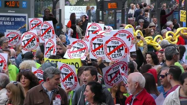 Protestas contra el CETA en España