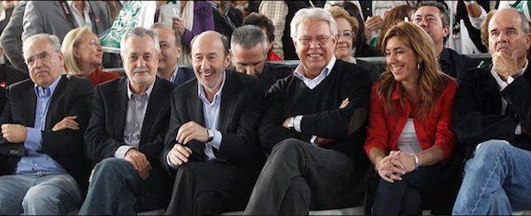 Susana Díaz, Felipe González, Pérez-Rubalcaba y otros líderes del PSOE