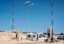 Nuevo puesto fronterizo con Argelia visto desde Mauritania.