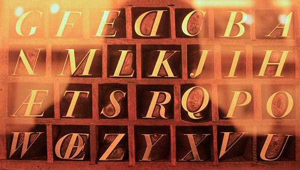 Tipos originales diseñados por Bodoni