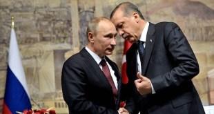 Los presidentes Putin y Erdogan en un encuentro bilateral