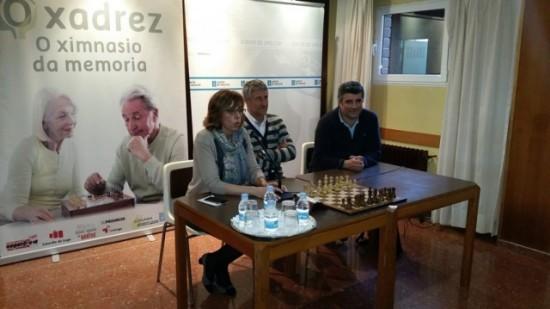 Setién en un acto de difusión del ajedrez dirigido a la Tercera Edad en Lugo.
