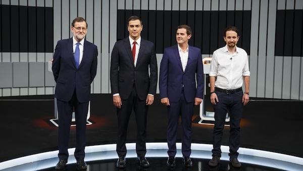 Rajoy, Sánchez, Rivera e Iglesias